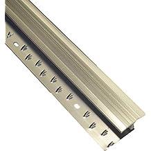 CARPET METAL COVER TRIM DOOR BAR GRIP EDGING THRESHOLD BRASS/SILVER (Carpet to Wood/Tile Z, Silver)