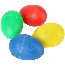 Tinksky 4 colori plastica percussioni musicali uovo