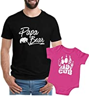 Funny Shirts for Dad, Papa Bear Tshirt, Matching Shirts, to Choose