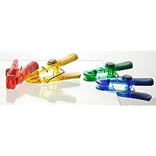 Fackelmann Set 4 Mollette Chiudi Sacchetti, Magnetiche, Plastica, Multicolore