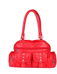 15138: Howdy Women Leather Handbags (Red)