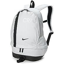 Nike Cr7 Chyn Bkpk Mochila, Unisex Adulto, Plateado (Puro) / Negro, Talla Única