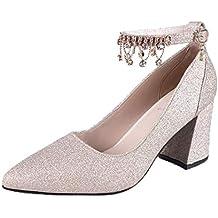 Covermason Zapatos Sandalias mujer planas negras, mujer de tacón alto Zapatos de tacón alto
