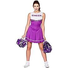 Wicked Costumes - Disfraz de animadora de instituto para mujer, color morado y blanco M 42-44