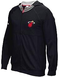 "Miami Heat Adidas 2016 NBA Men's On-Court ""Pre-Game"" Full Zip Hooded Jacket Veste"