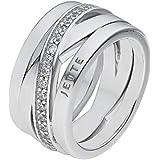 JETTE Silver Damen-Ring Wrapping 925er Silber 40 Rund (silber)