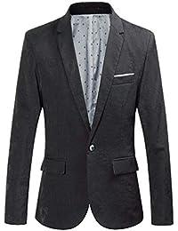 Blazer Stile retrò da Uomo Cappotto Chic Tuxedo Giacca Taglie Comode con  Fessure Moda Leisure Blazer 55445b3673f