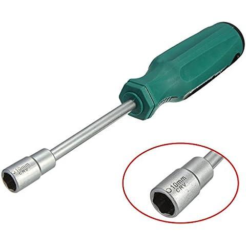 Yongse 10mm CRV Llave de cubo del destornillador de herramienta del destornillador NUT llave de metal
