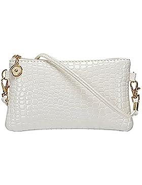 Bluelans® Damen Schultertasche PU Leder Handtasche Umhängetasche Crossbody Tasche Kleine Größe