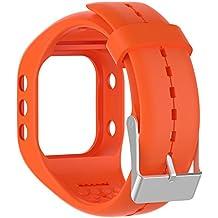 Silicona reloj banda correa de repuesto Flexible longitud ajustable pulsera Fitness para Polar A300reloj inteligente, naranja