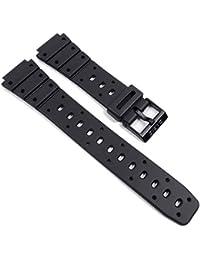 Casio watch strap Markenband Resin Band 17mm black TS-100