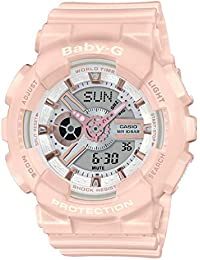 CASIO Womens Analogue-Digital Quartz Watch with Resin Strap BA-110RG-4AER