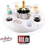 infactory NC8843-944, infactory Aufblasbarer Getränkehalter im coolen Rettungsring-Design