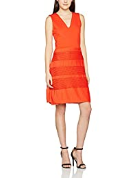 French Connection Pleat Lace Jersey S/Ls Vnk Drs, Vestido para Mujer, Small
