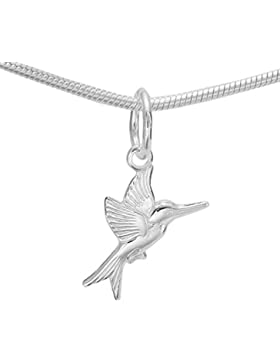 Mini Silberschwalbe Schwalbenbaby Rauchschwalbe Singvogel Sterlingsilber Kettenanhänger #a1255