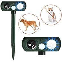ledgle 0.5W ad ultrasuoni animale Repeller, energia solare repellente per uccelli, LED Luce Mole dispositivo di controllo con luce LED strobo funzione, Angolo di Rilevamento di 110° orizzontali, IPX4impermeabile
