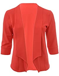 The Home of Fashion Home Of Fashion Plus Size Premium Designer Inspired Coral Blazer Jacket