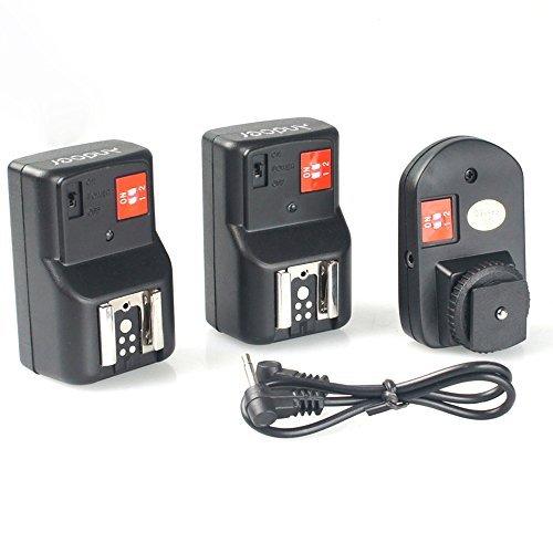 Andoer PT-04GY 4 Kanäle Wireless Remote Speedlite-Blitzauslöser Universal- mit 1 Sender & 2 Empfänger für Canon Nikon Pentax Olympus