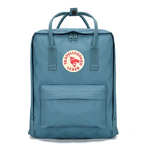 Neverending Rucksack Damen Rucksack Herren Mädchen Jungen & Kinder Vintage Tagesrucksack mit laptopfach,Unisex Modern Wasserdichter Schulrucksack Rucksack Lässiger Daypack, Blau
