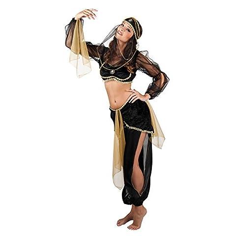 Boland 83562 - Erwachsenenkostüm Arabische Prinzessin, schwarz (Über Bauchtanz Kostüme)