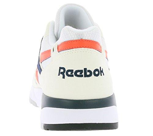 Basket Reebok Bolton Blanc Écru Marine et Orange Weiß