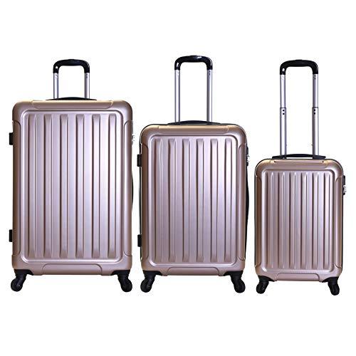 Slimbridge lydd set di 3 valigie rigide, oro