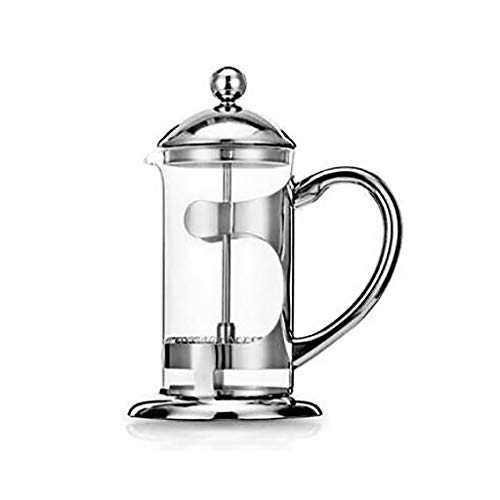 JJSP Drücken Sie Topf Edelstahl Kaffeetopf Hause Tee Brewer Hand Kaffee Filter Pot Glas Filter...