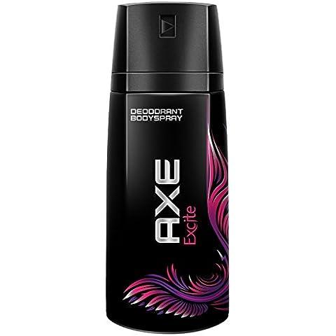 6x Axe Excite Desodorante Aerosol / cada 150ml / para los hombres / Body Spray