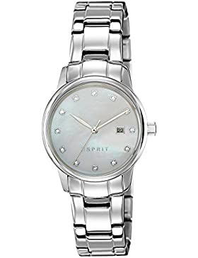 Esprit Damen-Armbanduhr ES-BLAKE SILVER Analog Quarz Edelstahl ES100S62009