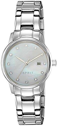 Esprit Mujer Reloj De Pulsera es de Blake Silver analógico de cuarzo Acero inoxidable es100s62009