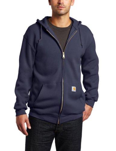 Carhartt Men's Big & Tall Midweight Sweatshirt Hooded Zip Front Original Fit,New Navy,XXX-Large K122 Zip-front Sweatshirt
