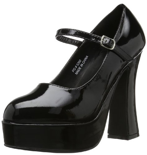 Demonia DOLLY-50  Damen Mary Jane Halbschuhe, Schwarz (Blk Pat), EU 43 (UK 10) (US 13) (Heel Flats, High)