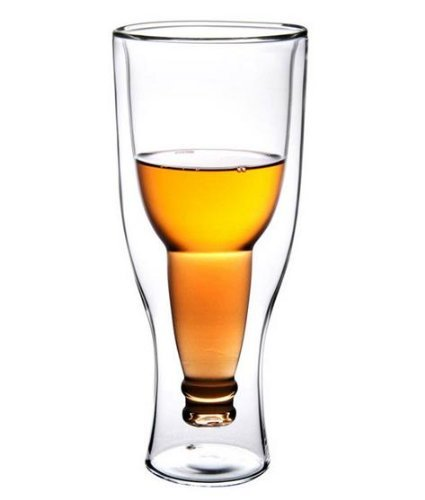 Bicchiere per birra a doppia parete - design