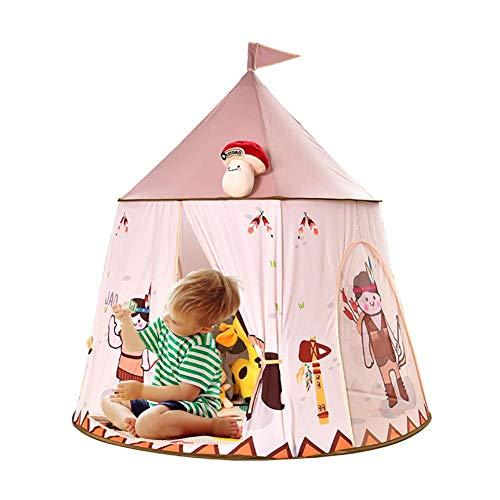 Kinder Tipi Spielzelt Zelt Für Kinder, Spielzelt für Jungs Kleinkinder, Spielhaus für innen und außen, tragbares Pop-Up Indianerzelt Tipi Geschenk für Kinder