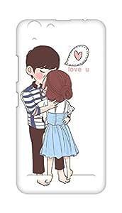 Amez designer printed 3d premium high quality back case cover for Lenovo K5 Plus (Kissing Couple)