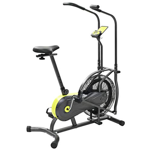 Festnight- Airbike Fitnessbike Fahrradergometer Heimtrainer Indoor Cycle mit LCD-Display, 111 x 61 x 136 cm Dual-lcd-horizontale