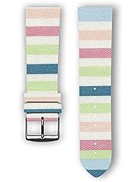 100% diseño de algodón con piel trasera: Lollypop–Reloj de repuesto correa para reloj para Samsung Gear S3–Apple reloj inteligente–relojes–conectado relojes–relojes convencionales. Fabricado en Francia