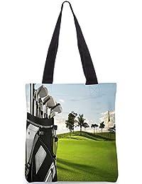 """Snoogg Golf-Stick-Einkaufstasche 13,5 X 15 In """"Shopping-Dienstprogramm Tragetasche Aus Polyester Canvas"""