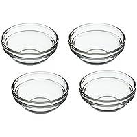 Kitchen Craft - Juego de 4 Cuencos de Cristal, Transparente