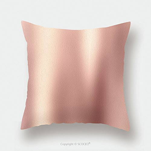 Custom Satin Pillowcase Protector Rose Gold Background Gold Polished Metal Steel Texture 581299399 Pillow Case Covers Decorative