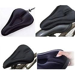 Funda Sillín Bicicleta, Cubierta para Sillín de Bici MTB Impermeable Unisex Color Negro