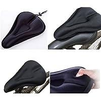 Lomire Funda Sillín Bicicleta, Cubierta para Sillín de Bici MTB Impermeable Unisex Color Negro