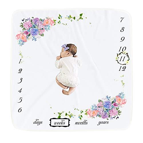 Baby Meilenstein Decke Fotodecke Baby Monats Decke f/ür Jungen und M/ädchen Unisex Babydecke mit Monat als Geschenk zur Geburt Babys Meilensteine in Wachstum /& Alter Verfolgen Weich Dick Gro/ß