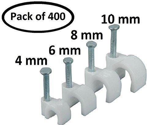 Tacos redondos Parth Impex para cables, de 4, 6, 8 y 10 mm, 400 unidades