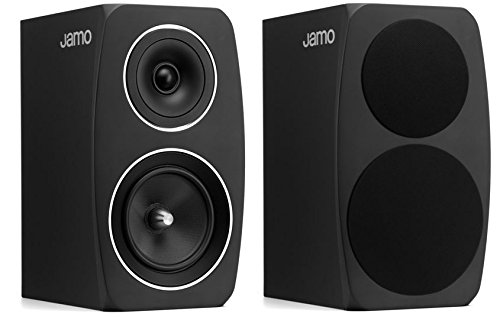 Jamo C-93 Regal-Lautsprecher, Farbe: schwarz, Paar Aluminium Cone Woofer