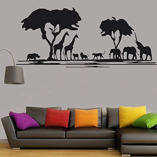 ganlanshu Wildes Tier Wandtattoo Kunst Aufkleber Design Tier Prärie Home Office Dekoration Schlafzimmer Wohnzimmer Dekoration Aufkleber 176cmx75cm