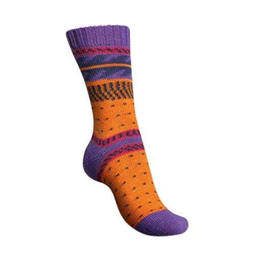 Neuheit 2017!! 100g Regia Pairfect Design Line by Arne & Carlos - Farbe: 9093 - sandalstrand color - Für Frauen und Männer, die's farbenfroh lieben!