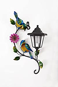 Greenhurst 4709 Solar Bird Wall Plaque - Blue/Green from Gablemere