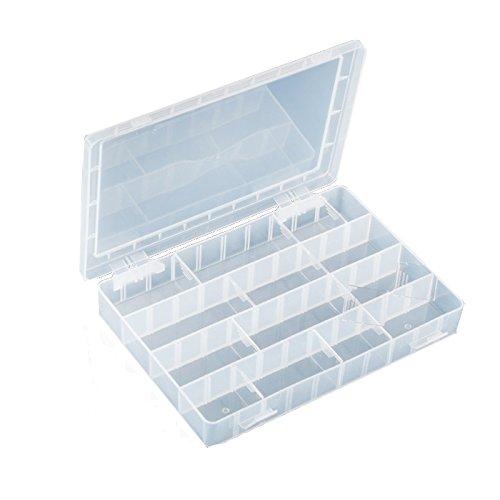 Pro 'sKit 203–132H Mehrzweck-Case Kunststoff Box stoßfest Komponente Aufbewahrungsbox PP Material mit 40Quadrate 252x 182x 40.5mm Elektronische Komponente Box