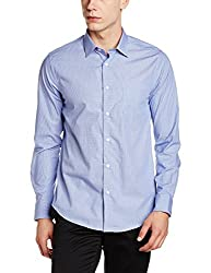 blackberrys Mens Formal Shirt (8907599254734_BP-ELABORATE_44_Midnight Blue)
